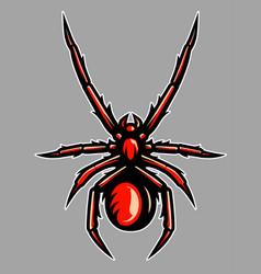 venomous spider tarantula mascot vector image