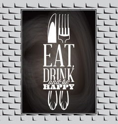 vintage typographic food quote for the menu or t vector image