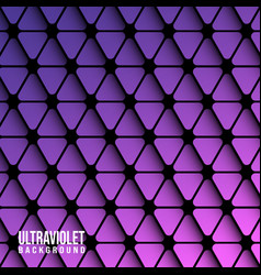 violet triangles background template vector image