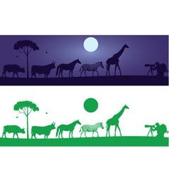 Beautiful Wild Animals Wall Decal vector image