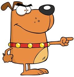 Brown Angry Dog vector image