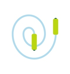 Skipping rope flat icon vector