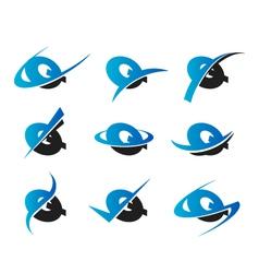 Alphabet Q Logo Icons vector image vector image