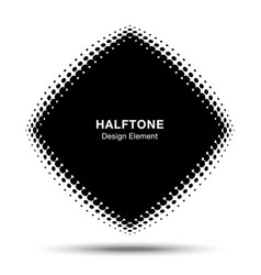 convex abstract halftone distorted rhombus frame vector image vector image