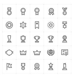 mini icon set - award icon vector image
