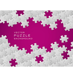 purple background made from white puzzle pieces vector image vector image
