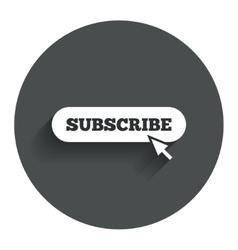 Subscribe with cursor pointer icon membership vector