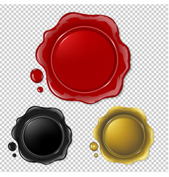 wax seal collection vector image vector image