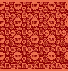 advertising seamless pattern vector image vector image