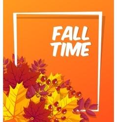 Autumn time seasonal banner design Fall leaf vector image vector image