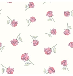 Hand drawn roses seamless pattern vector image vector image