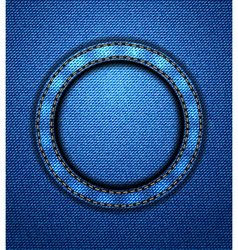 Jeans circular patch vector image