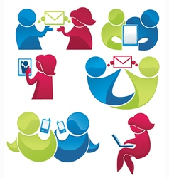 mail and phone communication vector image vector image