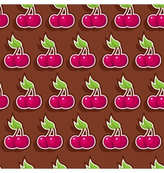 seamless chocolate cherry vector image vector image