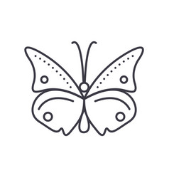 butterfly line icon sign on vector image