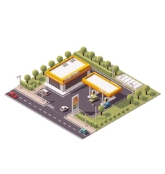 isometric filling station vector image