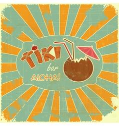 Retro Design Tiki Bar Menu vector image