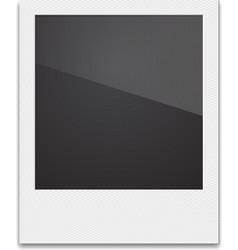Retro Photo Frame Polaroid On White Background vector image vector image