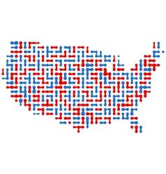 USA Abstract Map vector image