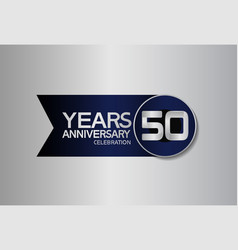 50 years anniversary logo style with circle vector