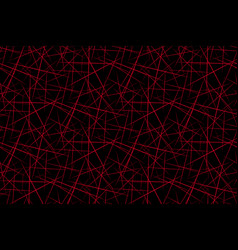 abstract background red geometric shapes black vector image