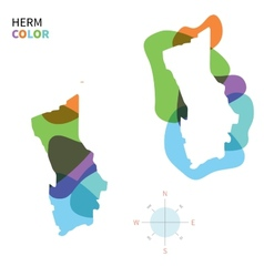 abstract color map herm vector image