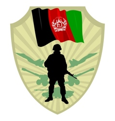 Army of Afghanistan vector image