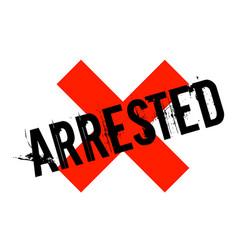 Arrested sticker stamp vector