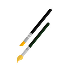 artist paintbrush pen vector image