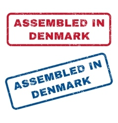 Assembled In Denmark Rubber Stamps vector