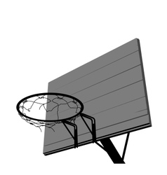Basketball hoop silhouette vector