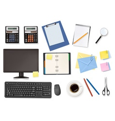 Big office supplies set4 vector