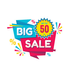 big sale - creative banner vector image