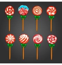 Big set of Christmas candy vector image