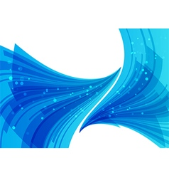Blue abstract background overflow elements vector