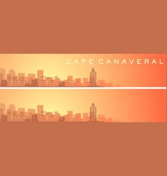 Cape canaveral beautiful skyline scenery banner vector
