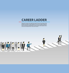 career ladder business people vector image