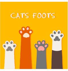 cat flat design prints cartoon cute vector image