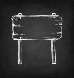 chalk sketch of signpost vector image