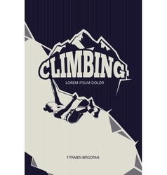 Climbing trekking hiking mountaineering vector