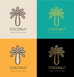 Coconut logo or symbol vector