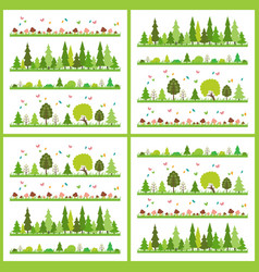 Composition green wood on white background vector