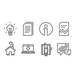 corrupted file idea and elevator icons internet vector image
