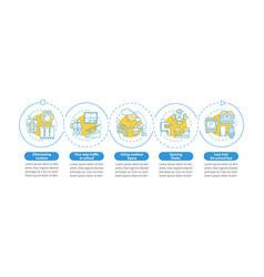 Covid19 school precautions infographic template vector