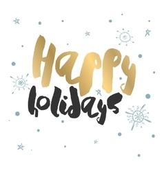 Decorative holiday season card vector