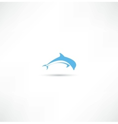dolphins icon vector image