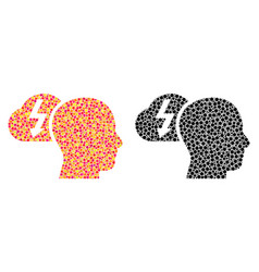 Dotted brainstorming mosaic icons vector