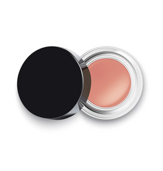 face cosmetic makeup powder or eye shadow top vector image