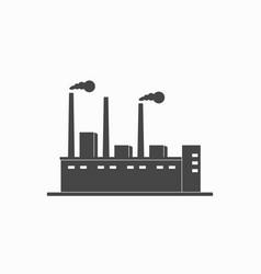 factory icon vector image