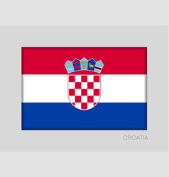 Flag of croatia national ensign aspect ratio 2 to vector